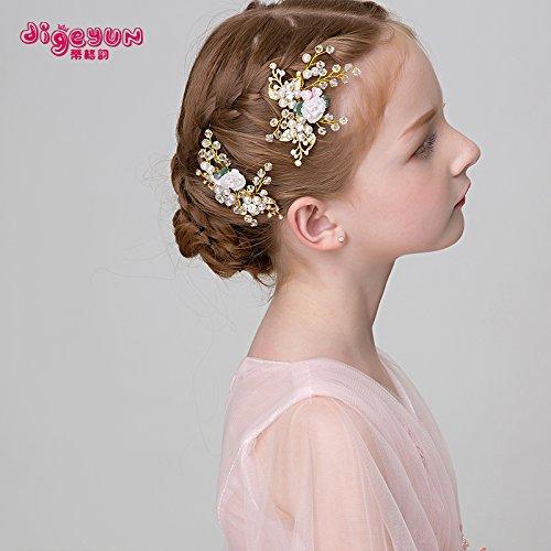 Tlue Tathtub Kinder Die Haare Mädchen Haare Prinzessin Kopfschmuck Haarnadel Rosa Zubehör Kinder Zeigen Haarclips, Zwei (Der 12 Jährige Prinzessin Kostüme)