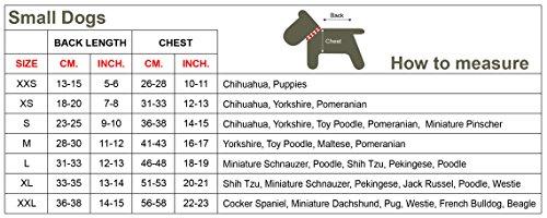 Doggy Dolly W110 Hundejacke Wasserabweisend mit Kapuze, schwarz/rot, Wintermantel / Winterjacke, Größe : S - 6