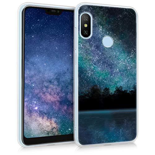 kwmobile Funda para Xiaomi Redmi 6 Pro/Mi A2 Lite - Carcasa de TPU para móvil y diseño del Cielo Estrellado en Azul/Negro