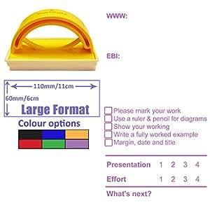 WWW & EBI Feedback, Presentation & Effort Grades, Next Step Teacher Assessment Stamp - Large Format School Stamp. Ideal for Science / Maths Subjects. Available in Red, Blue, Black, Green, Violet Ink.