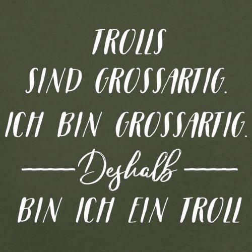 Ich Bin Grossartig - Trolls - Herren T-Shirt - 13 Farben Olivgrün