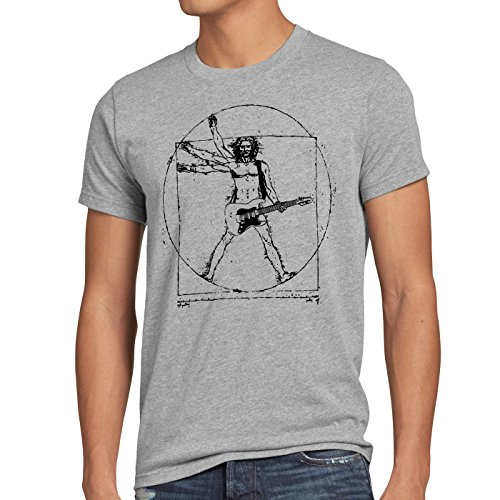 style3 Da Vinci Rock Herren T-Shirt musik festival, Größe:XXL;Farbe:Grau meliert