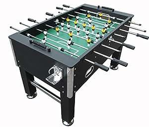 Calcio Balilla - Calcetto - BILIARDINO - Nero - Dimensioni REGOLAMENTARI - Robusto Soccer Table - Il Piu Venduto!!