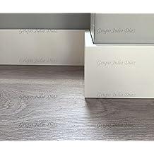 Rodapie Blanco en acabado recto de dimensiones 8 cm de alto x 1,5 cm de grosor , se vende por tira y cada una es de 244 de largo, puede elegir tantas como desee …