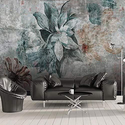 Carta da parati murales,vintage stile europeo elegante verde e marrone di piante floreali arte fotografica stampa carta da parati dimensioni grandi poster decorazioni a parete per soggiorno divano t