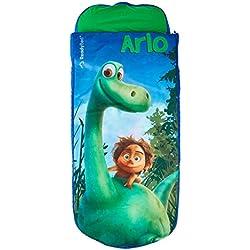 ReadyBed 406GDI - Cama juvenil hinchable y saco de dormir en uno con diseño The Good Dinosaur, color verde