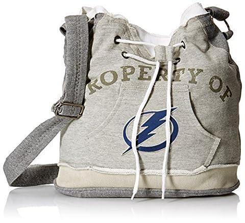 NHL Tampa Bay Lightning Hoodie Duffel Purse, Grey 1