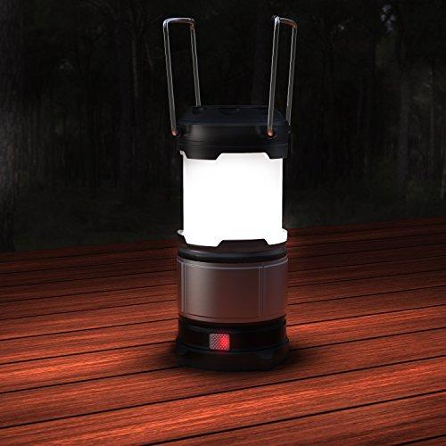 BRANDSON - LED Campinglampe/Laterne Ausziehbar   Powerbank-Funktion   LED Camping-Leuchte   2 Verschiedene Helligkeitsstufen   2 Warnleuchten Lichtmodi   Energieeffizienzklasse A+ - 4