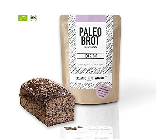 Organic Workout PALEO-BROT-BACKMISCHUNG | 100% Bio | gluten-frei | low-carb | Eiweiss-Brot | clean-eating | Fitness-Brot | hefefrei | ohne Getreide | hergestellt in Deutschland