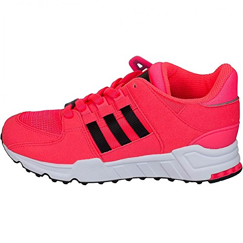adidas Femme Chaussures / Baskets Equipment Support J Blanc-Noir-Rose