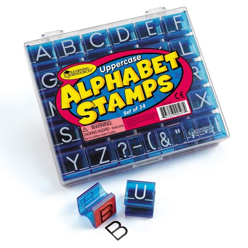 Learning Resources LER0597 Alphabet-Stempel Großbuchstaben