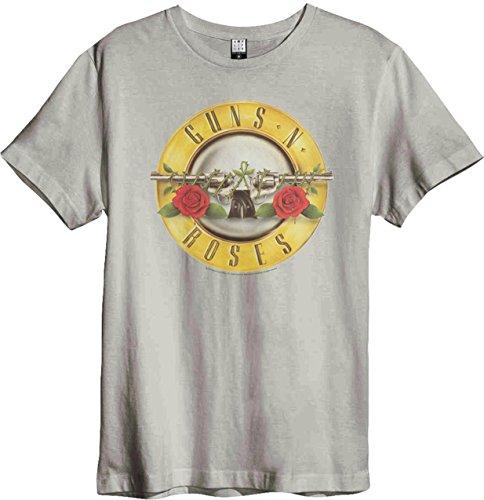 Amplified Guns n Roses Logo Drum Colour Surge T-Shirt (XL, Bone)