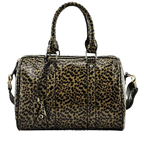 TrendStar Damen Neu Entwerfer Handtaschen Der Frauen Patent Berühmtenart Kunstleder Taschen Braun