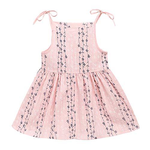VJGOAL Mädchen Kleider, Mädchen Baby ÄRmellose Prinzessin Kleid Sommer Drucken Einstellbar Camisole Rock Prinzessin Dresses for ()