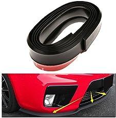 PR Black Front Bumper Lip Stickon Car Body Kit Bumper Lip Side Skirt Rubber Edge Decorative Protector Trim -For Maruti Baleno