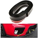 #7: PR Black Front Bumper Lip Stickon Car Body Kit Bumper Lip Side Skirt Rubber Edge Decorative Protector Trim -For Honda Brio