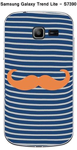 Coque Mariniere Moustache - 5 Tangerine pour Samsung Galaxy Trend Lite S7390