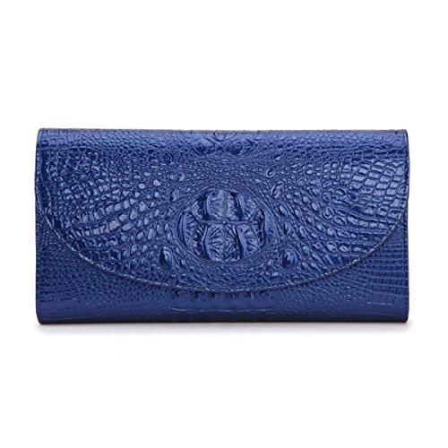 Moda In Pelle Borse Da Donna Borsa Borsa A Mano Le Buste Azienda Borsa Vernice Banchetto Cena Bag Blue