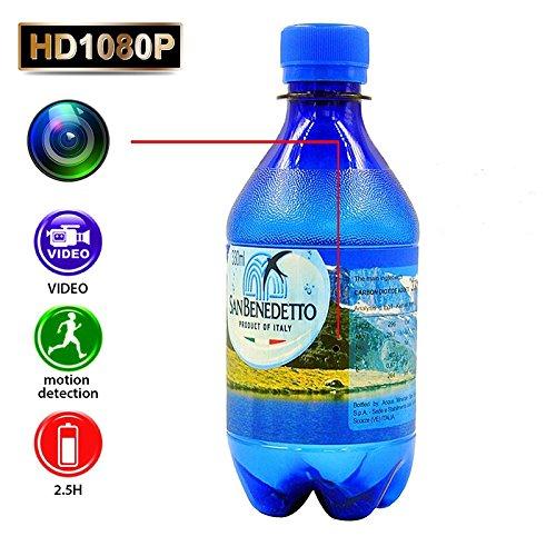 ETbotu Full HD 1080P Überwachungskamera DVR Wasserflasche Camcorder mit Bewegungserkennungsfunktion -