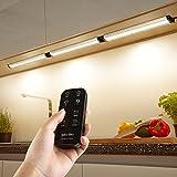 Albrillo 3er Pack 12W LED Unterbauleuchten mit Timer Funktion und 360° Kontrolle Fernbedienung