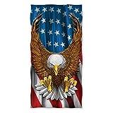 Yuerb American Eagle USA Flag Beach/Shower Towel by Dawhud Direct 31 x 51 Inch