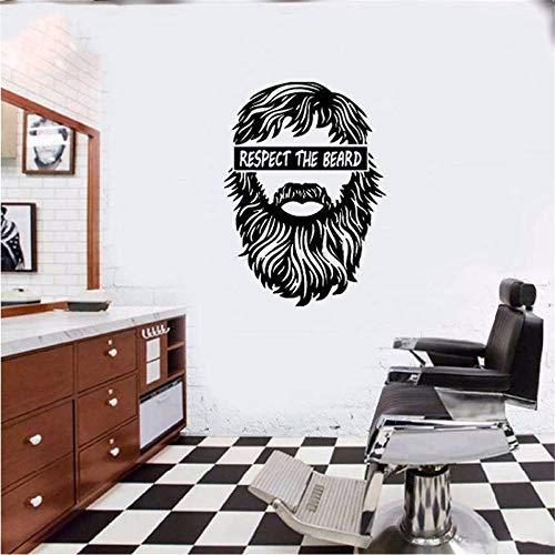 Wandaufkleber Kinderzimmer Friseursalon-Haarschnitt-Fenster-Mann-Salon-Bart-Gesicht