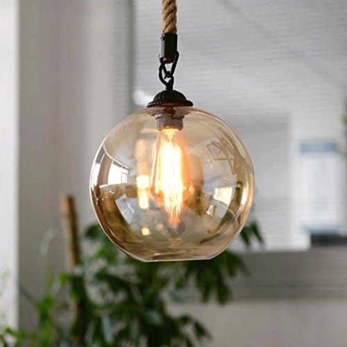 25 Licht-kerzen-kronleuchter (WW Kronleuchter Moderne Hanfseil Retro Beleuchtung Bar Restaurant Lampe Wohnzimmer Kreative Glas Bekleidungsgeschäft Kronleuchter,Durchmesser 25 cm)