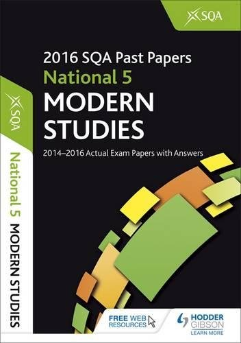 National 5 Modern Studies 2016-17 SQA Past Papers with Answers