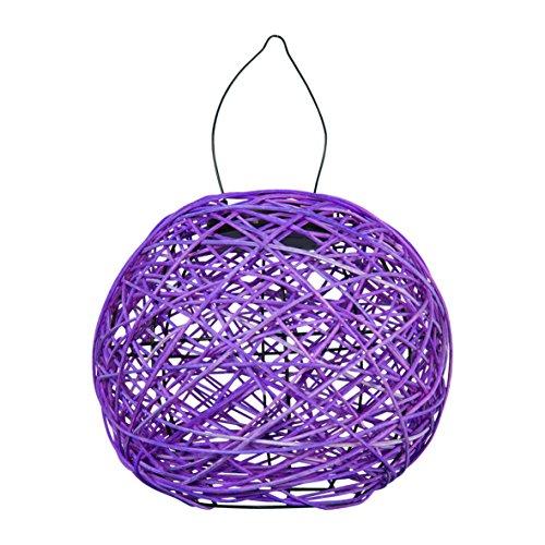 Garden Kraft 12560 Rotin Lanterne Solaire - Violet