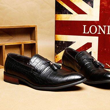 Chaussures d'hommes Office & Carrière / Party & soirée / Trotteurs en cuir décontracté noir / Bourgogne Black