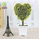 Beata.T Fiori Artificiali Set Simulazione Fiore Cuore Erba Indoor Verde Pianta Ornamenti Desktop Piccoli Fiori In Vaso, D