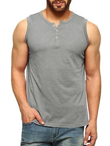 Herren Ärmelloses T Shirt Sommer Basic Slim Fit Muskelshirt Fitness Tank Top