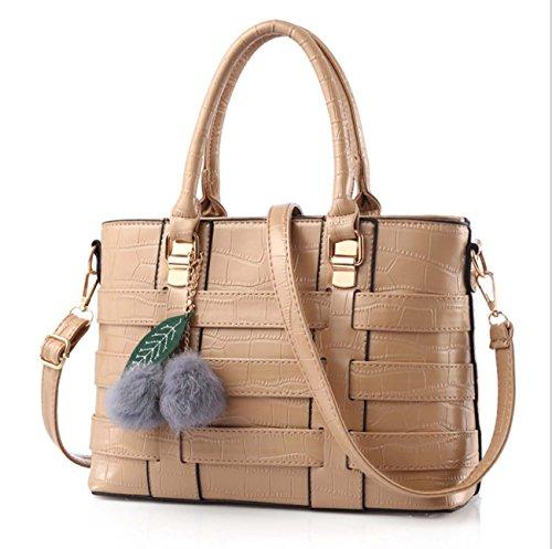 Sacchetto di spalla di modo del sacchetto di spalla di modo della borsa di stile delle signore e peluche e fogli di peluche sei colori Materiale opzionale dell'unità di elaborazione Khaki