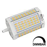 MENGS® Dimmbar R7s-J118 118mm LED Lampe 30W AC 220-240V Kaltweiß 6500K 64x5730 SMD Mit Lüfter