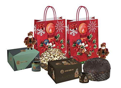 Panettoni fiasconaro confezione natalizia fai da te oro verde + nero sublime