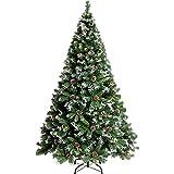 XPKZYSLJ PVC Weihnachtsbaum Tannenbaum Christbaum Grün künstlicher mit ständer, Cedar, Obst,210cm/6.8ft