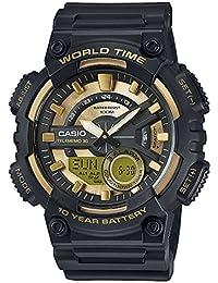 Casio AEQ-110BW-9AVEF - Reloj de pulsera hombre, Resina, color Negro