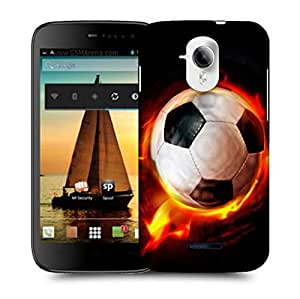 Snoogg Football On Fire Designer Protective Back Case Cover For MICROMAX A117