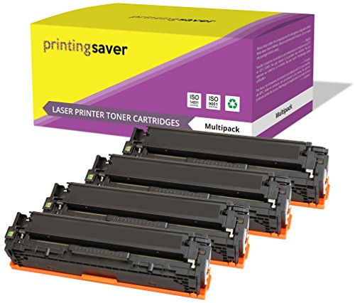 Printing Saver CF210X-CF213A (131X 131A) Set 4 Toner kompatibel für HP Laserjet Pro 200 Color M251n, M251nw, MFP M276n, MFP M276nw drucker (131 Tonerkassette Hp)