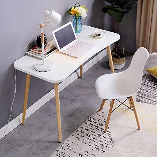 Wayward Einfache Schreiben Computertisch,Home Office Große Computer Schreibtisch,hölzerne Bein Rechteckige Study-Tabelle Multifunktöne Workstation-a 100x60cm(39x24inch) -