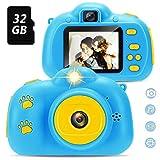 Yidarton Kinder Kamera für 4-8 Jahre alte Mädchen Geschenke, Selfie Kleinkindkamera mit 2 Zoll Bildschirm,Spiel, Kinder-HD-Digitalkamera mit 32 GB TF-Karte, USB-Kabelbügel