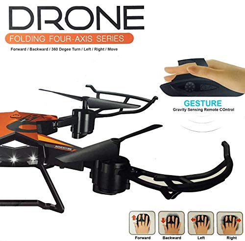 Vortex Toys Foldable Drone with Gesture Control Remote - Headless Quadcopter