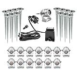 CLGarden LEDSPL14 Ensemble de projecteur de luxe LED (14pcs. Set) Incroyable 14 projecteurs LED dans un boîtier en aluminium noble, 1W LED haute puissance dans la couleur de tendance blanc blanc chaud, vue absolue
