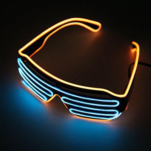 Pretty Smart Glasses Orange & Lila heißen Draht LED Neon Licht bis Shutter geformte Gläser für Kostüm Party