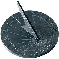 Esschert LS002 reloj de sol, 25 x 25 x 1,6 cm, 1.90 Kg,  material pizarra, color gris