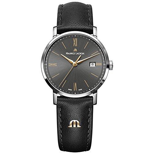 Maurice Lacroix Damen Analog Quarz Uhr mit Leder Armband EL1084-SS001-813-1