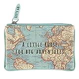 Sass & Belle - Little Purse for Big Adventures - Vintage Map Design - Blue