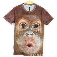 GZZ Camiseta de Manga Corta 3D de Animales de impresión 3D Animal Print/Camiseta de Manga Corta 3D de Manga Corta de Hombres básicos de Gran tamaño/Camiseta de Manga Corta,Color,M