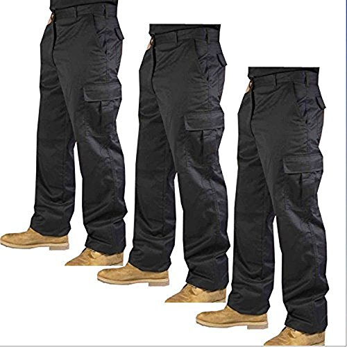 mcintyre-mens-polyester-cotton-cargo-combat-builders-warehouse-workwear-trouser-34-short-black
