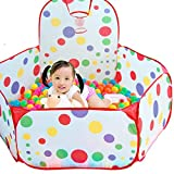 LOBTY 1-1.5M Ozean Ball-Pool Baby-Spiel-Haus Kinderspielzeug Portable klappbar wasserdichte Outdoor Indoor Spielplatz Kids Kinder Ocean Ball Pool mit Basketballkorb Babypool Bällebad + 50 Bälle